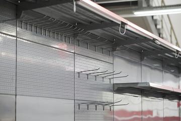 lighting for retail shelving, empty store shelves