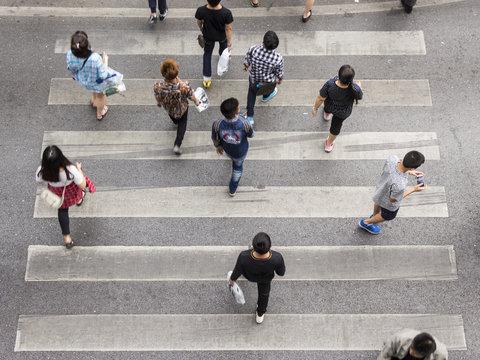 moving pedestrian
