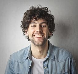 Handsome guy smiling
