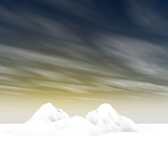 3d rendering of arctic environment