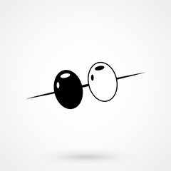 Olives icon vector