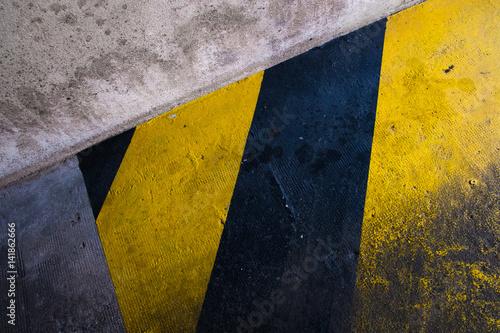Zebra Hachure Entrée Sortie Zone Réservée Jaune Garage Emplacement
