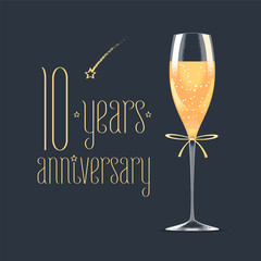 10 years anniversary vector icon