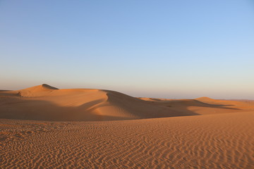 view of desert at Dubai uae