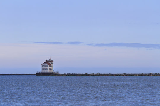Lorain lighthouse on Lake Erie, Lorain, Ohio, USA