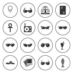 Set of 16 elegance filled icons