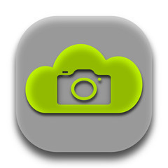 Photographer Coud Application Icon Concept