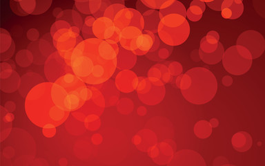 abstract red circles vector design