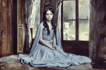 Young victorian lady