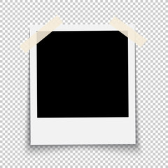 Photo frame on transparent background vector