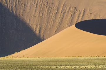 Sossusvlei, Namib desert, Namibia, Africa. High sand dunes.