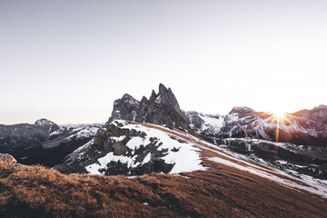 lever de jour à la montagne