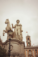 The Capitoline Hill, Rome Italy with copy space
