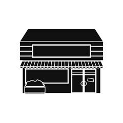 Store shop building icon vector illustration graphic design