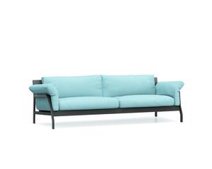 Isolated blue, turqoise modern sofa