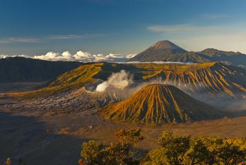 Sunrise on Mt.  Bromo and the Tengger Semeru caldera from Mount Penanjakan
