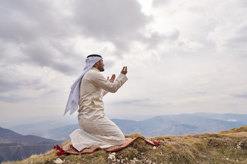 Islamic man praying