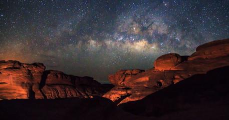 milky way at stone mountain / Milky way on the sky / Sam Phan Bok
