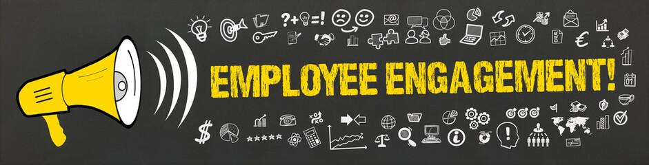Employee Engagement! / Megafon mit Symbole