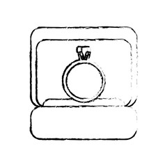 box ring wedding image sketch vector illustration eps 10