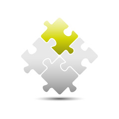 Puzzle concept icon isolated on white background creative solutions
