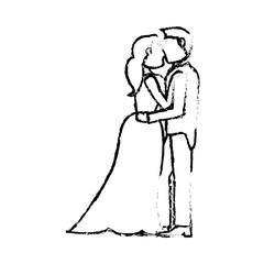 couple wedding love sketch vector iillustration eps 10