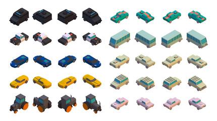 3D Isometric Cars