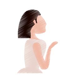 drawing bride woman beautiful vector illustration eps 10