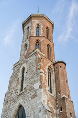 Close Up Detail From The Tower of the Church of Mary Magdalene, Budapest, Hungary