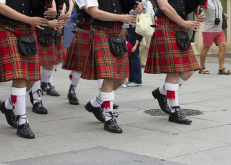 Scottish traditional pipe band
