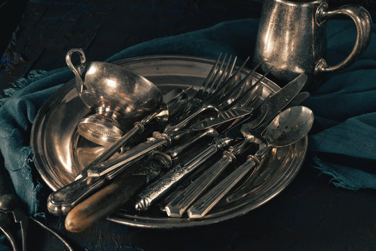 Ancient silver tableware