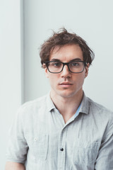 Young beautiful man portrait