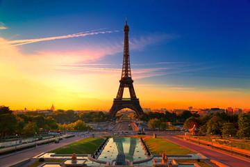 Eiffel Tower in Paris at Sunrise, France Wall mural