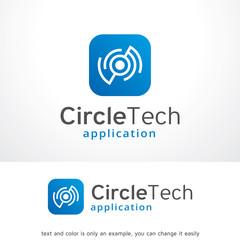 Abstract Circle Tech Logo Template Design Vector, Emblem, Design Concept, Creative Symbol, Icon