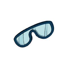 snowboarding glasses isolated icon vector illustration design