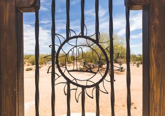 Southwest Steel Design on Outdoor Gate