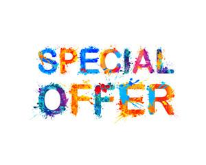 Special offer. Vector splash paint