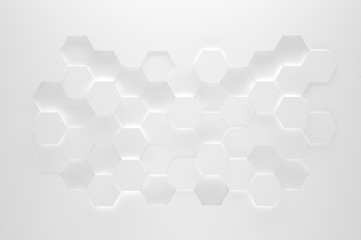 White Hexagon Texture