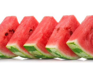 watermelon's slice on white background