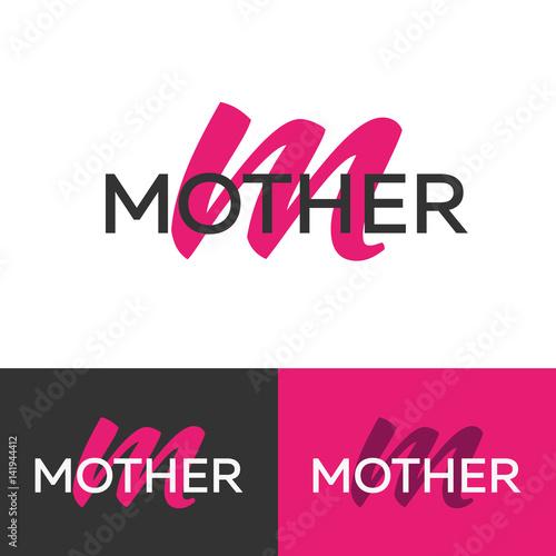 mother logo letter m logo vector logo template logotype concept