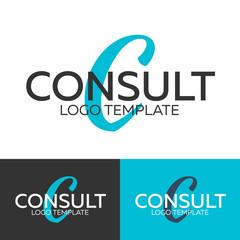 Consult logo. Letter C logo. Vector logo template. Logotype concept.