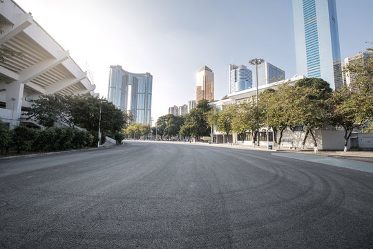 Road in the city