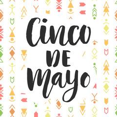 Cinco de Mayo. Mexican holiday poster