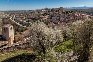 Streets and buildings of the town of Sepulveda in the province of Segovia, Spain