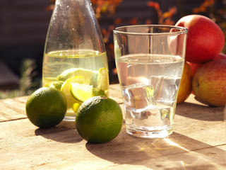Fresh ingredients of homemade juice