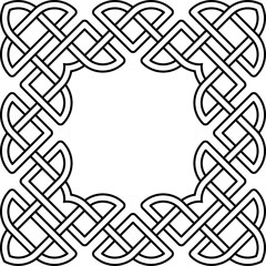 Monochrome Celtic pattern. Pattern for Scandinavian or Celtic ornament. Vector illustration