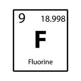 Fluorine periodic table element color icon on white background fluorine periodic table element icon on white background vector urtaz Images
