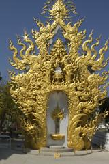 Chiang Rai wat temple golden bright architecture
