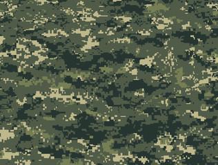 Camouflage pixels vert foncé