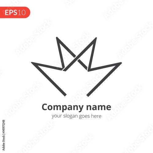 M And M Letter Logo Vector Design Business Logo Monochrome